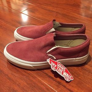 Red apple butter suede vans NWT NWT